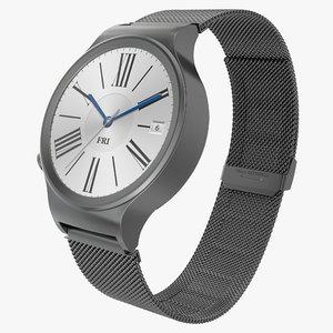 huawei watch 3 dark metal 3d model