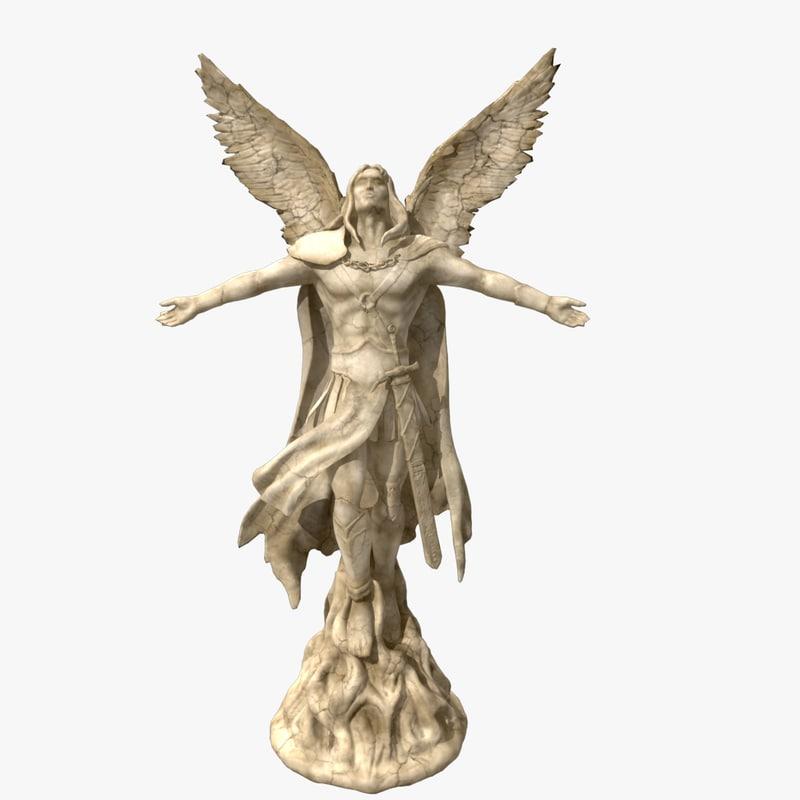 angel statue obj