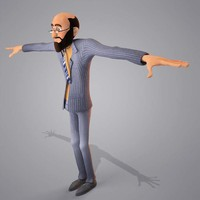 cartoon egypt man character 3d model