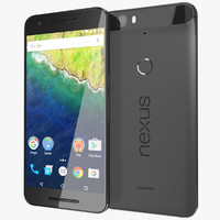 realistic huawei nexus 6p 3d model