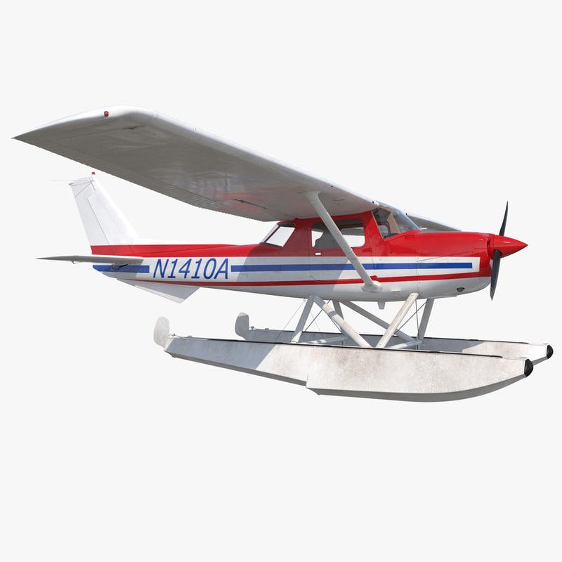 3d 3ds cessna 150 seaplane 2