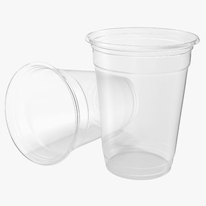 solo plastic clear cup 3d model