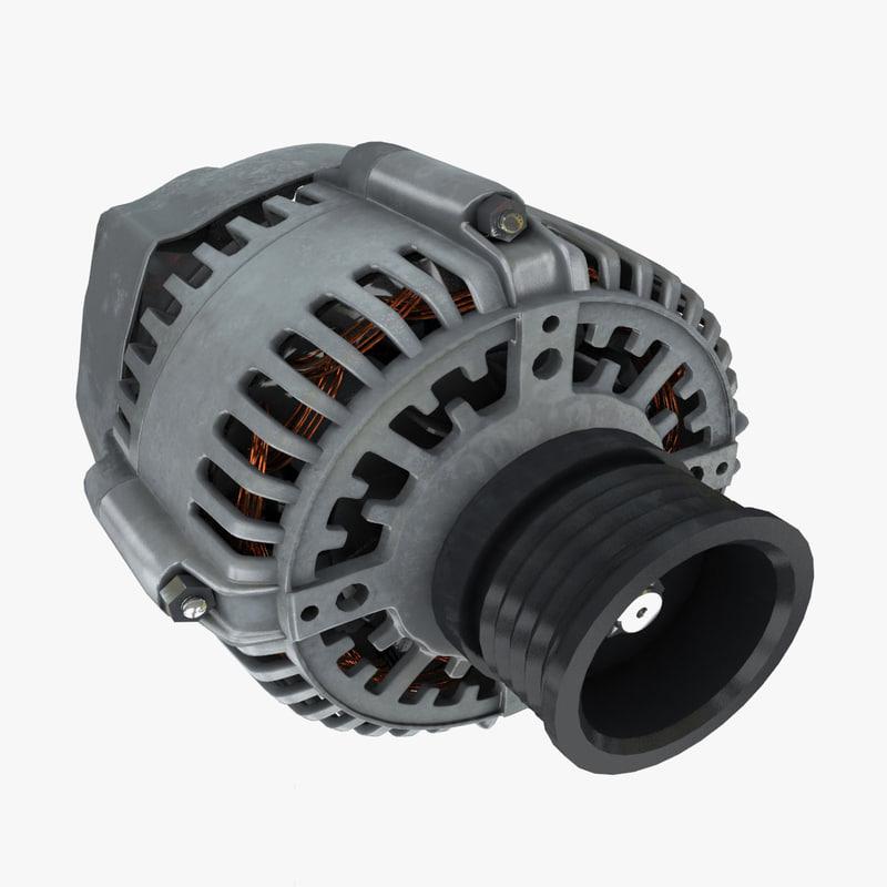 3d alternator engine model
