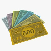monopoly money 3d model