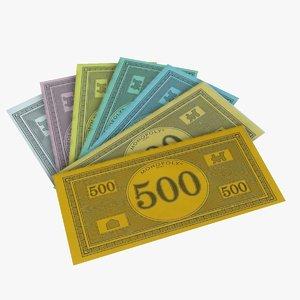 monopoly money 3d model