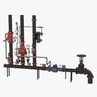 3d industrial pipes 2