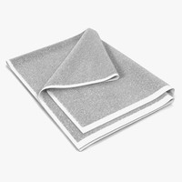 towel 4 white fur 3d model