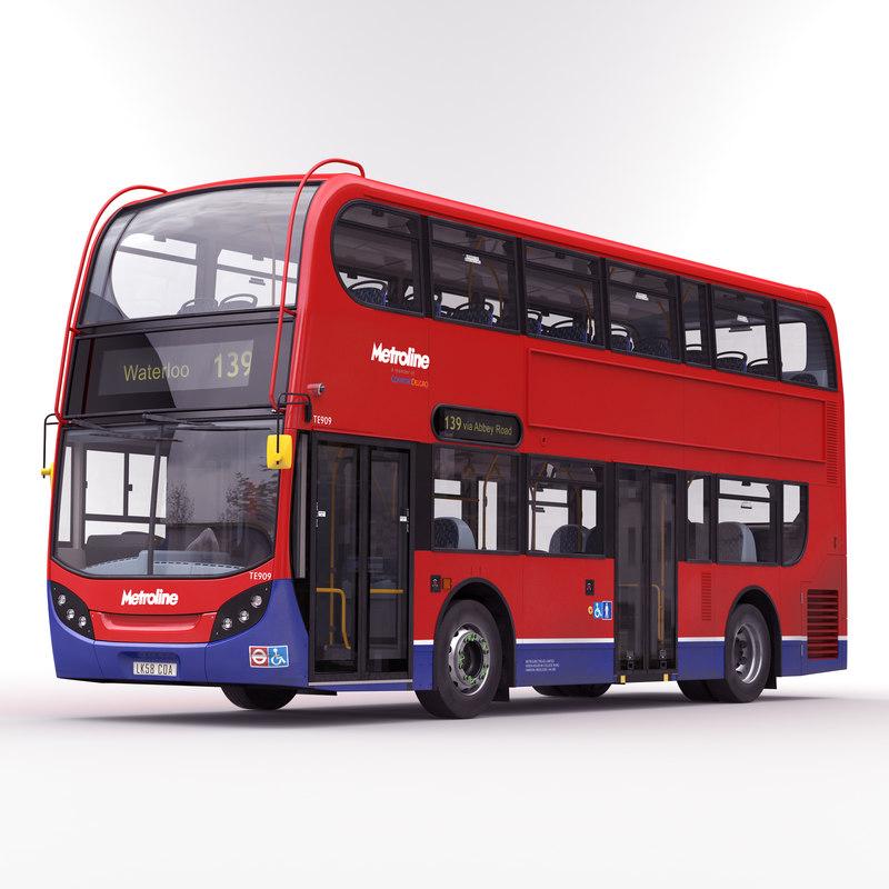 3d model london bus enviro 400