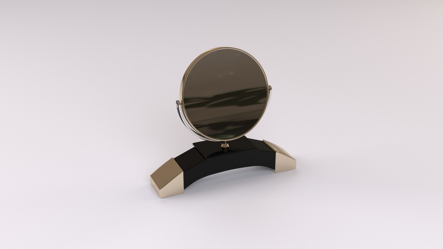 3d model of cosmetic mirror