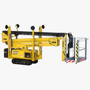 telescopic boom lift yellow max
