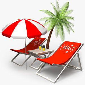 3d model deckchairs settings
