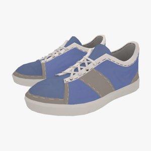 3d model modeled shoe
