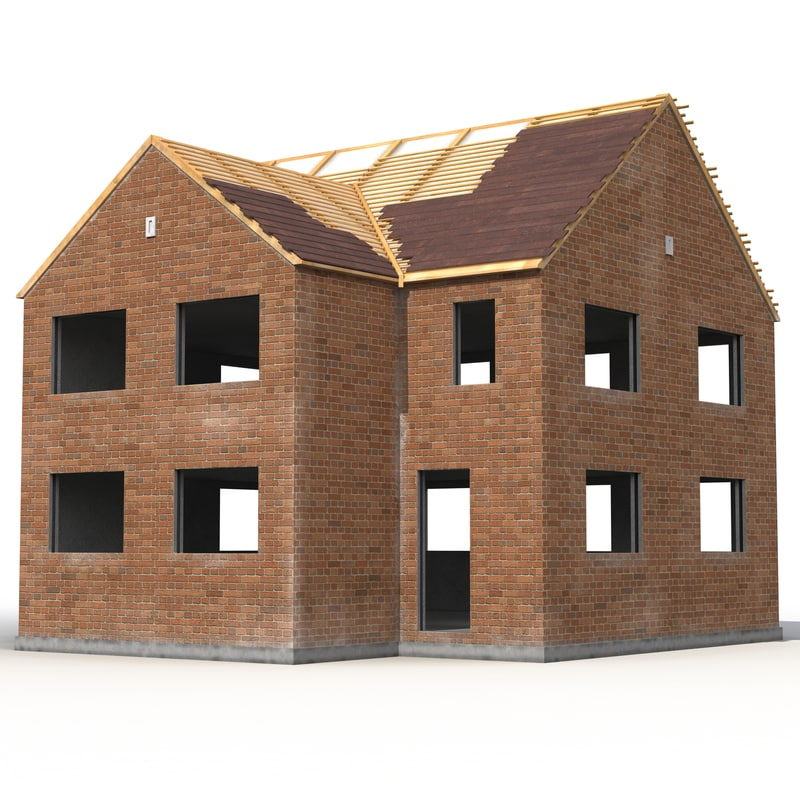 3ds max private house construction 3