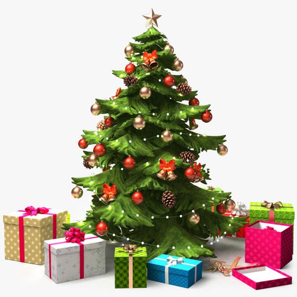 christmastree x2 3d max