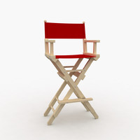 3d model makeup director s chair