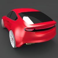 obj electric sedan concept style