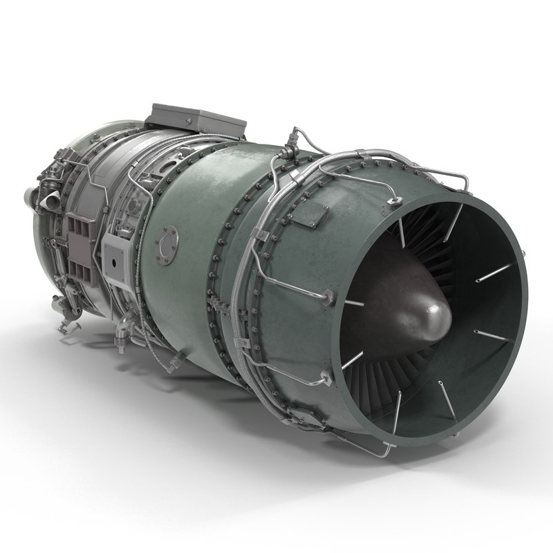 3d turbojet engine model