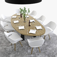 Luxury Wooden Table Set