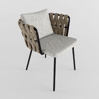 3d model of garden furniture chair