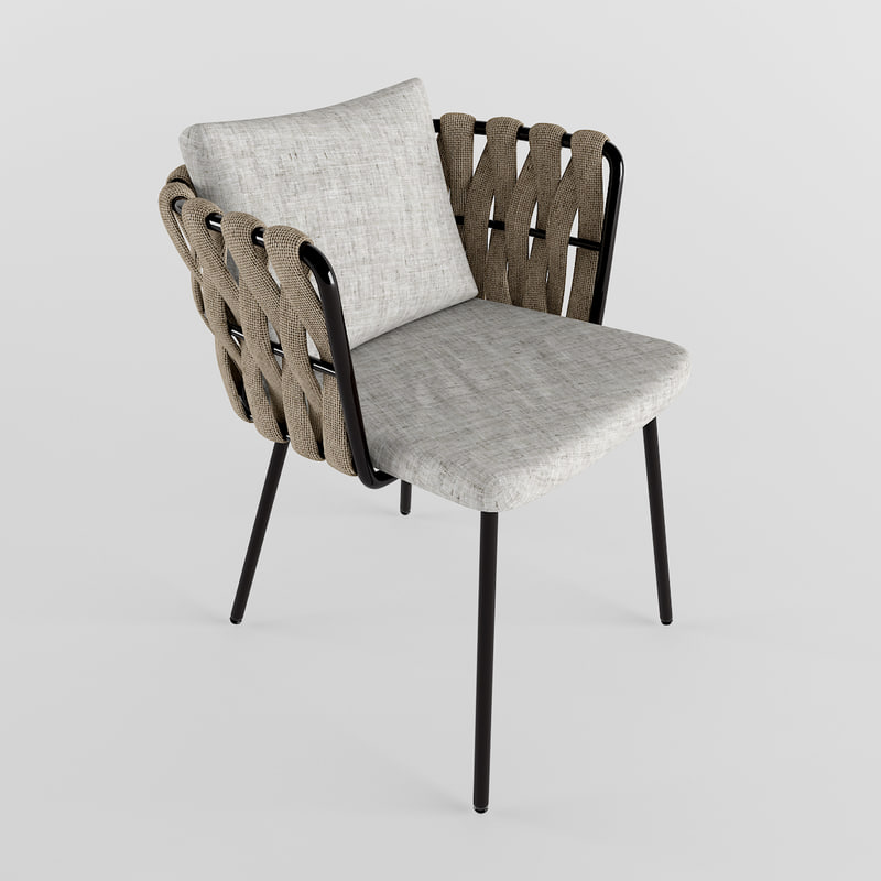 3d model of garden furniture chair