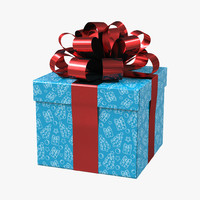 3d giftbox blue