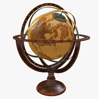 3d max armillary sphere