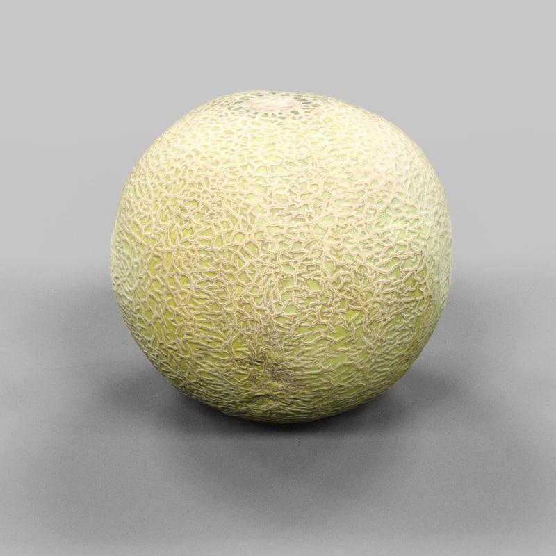 photorealistic melon 3d model