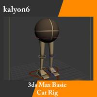 3d model cat rig character