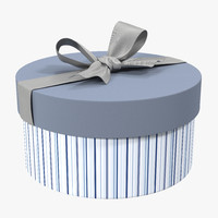 giftbox 5 silver 3d model