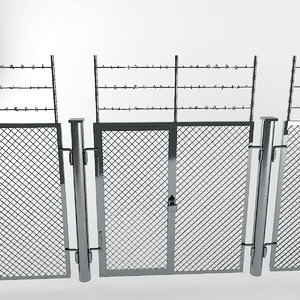 3d industrial fence
