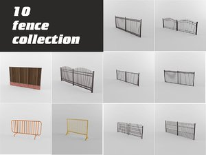fences walls 3d max