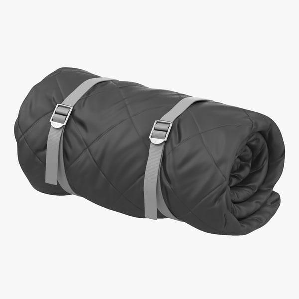 3d folded sleeping bag model