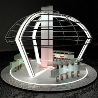 3d mall stand 001 model