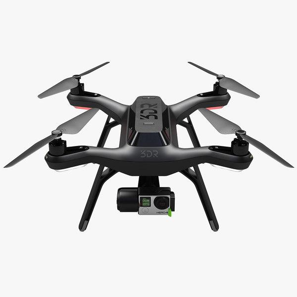 3dr solo drone 3d max