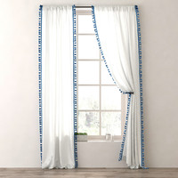 3d model drapery tassel-trimmed voile panel