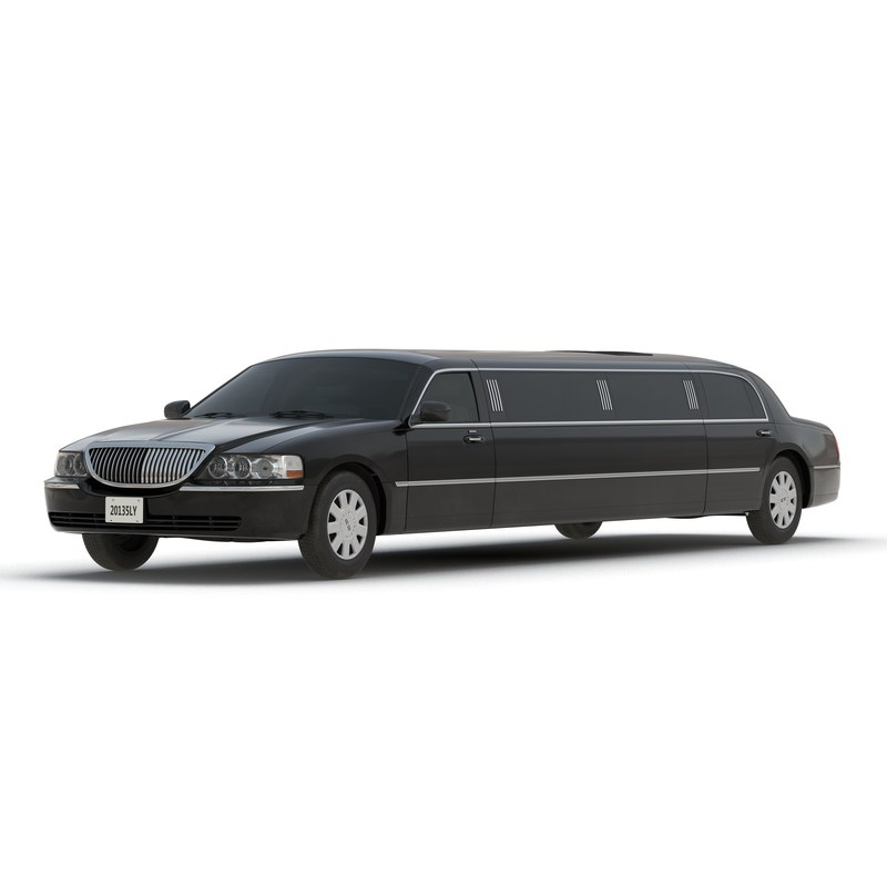 generic limousine black 3d obj
