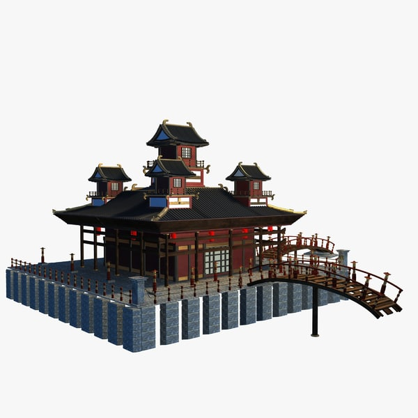 obj chinese temple