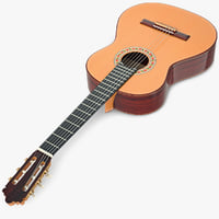 classical guitar 3d model