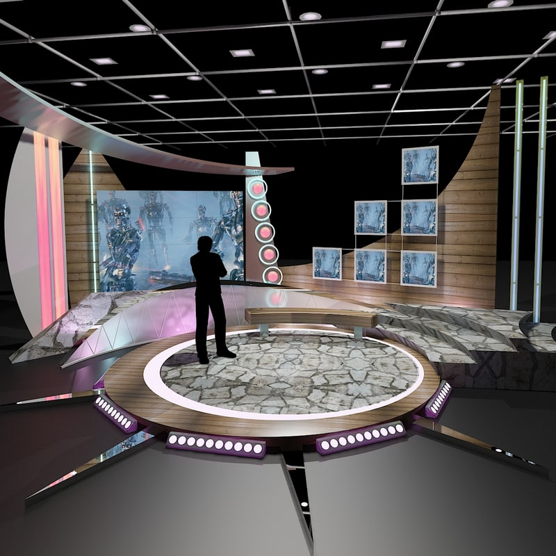 3d max virtual tv studio chat