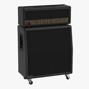 3d guitar amplifier generic model