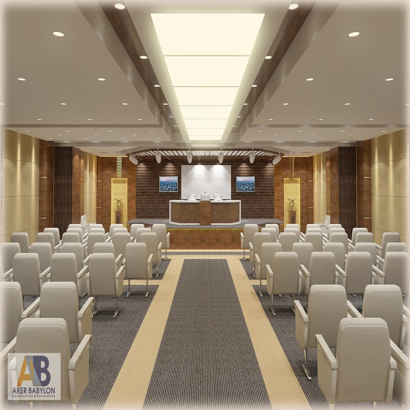 3d conference hall 018 model