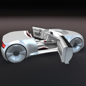 concept styled sports cabrio 3d model