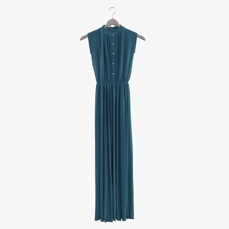 long dress 3d max