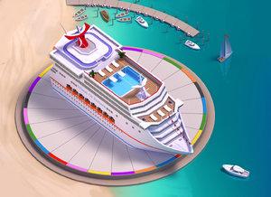 boat ship cruise 3d model