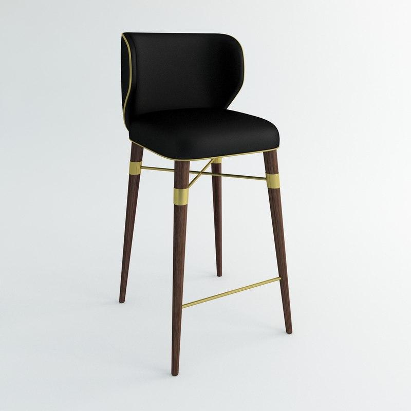 3d ottiu louis bar chair