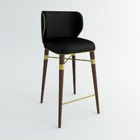 3d ottiu louis bar chair