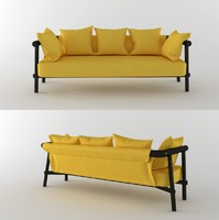 garden sofa yellow