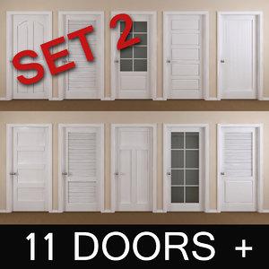 3d 11 interior doors model