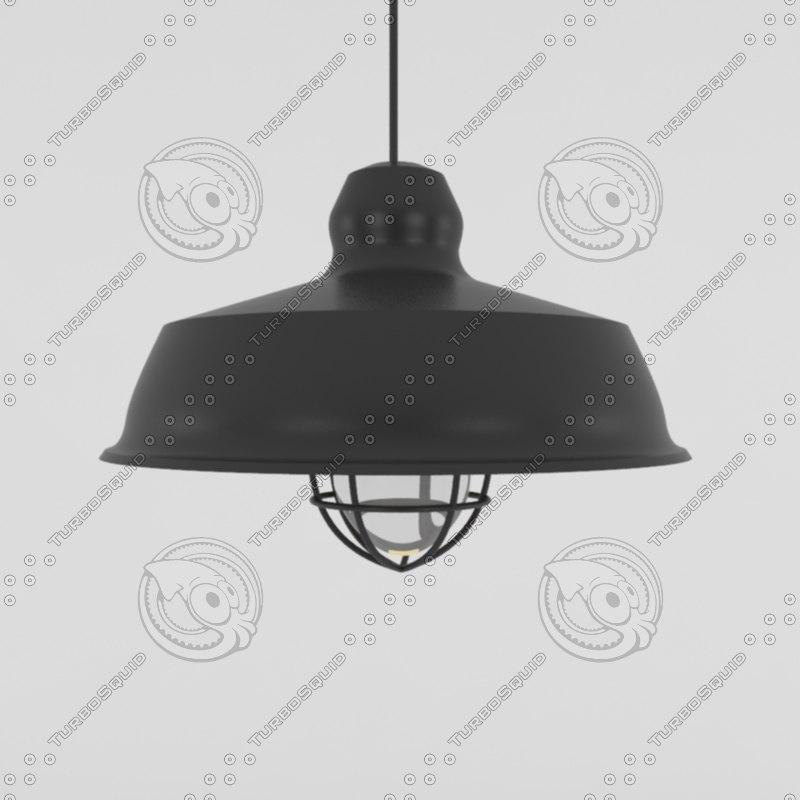 3d model vintage light