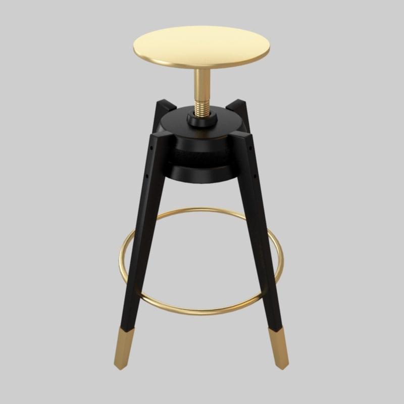 ikea stool furniture 3d model